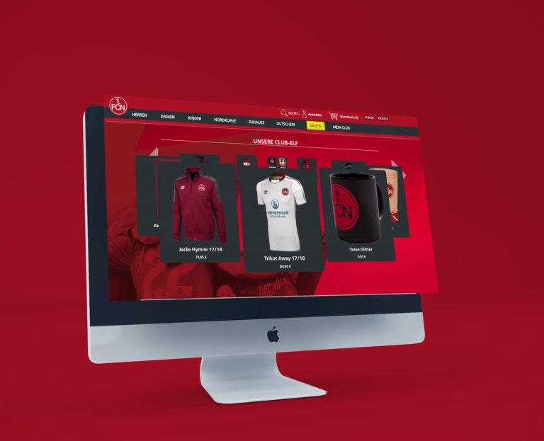 Onlineshop FCN Sportausstattung Merchandising Fußball