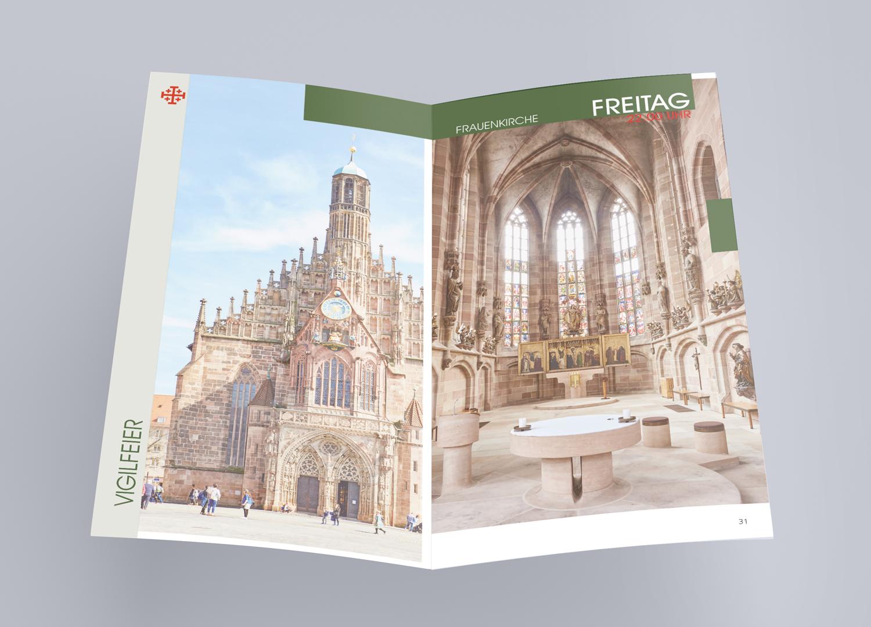 Infobroschüre Kirche Restauration Denkmalschutz Wahrzeichen Nürnberg