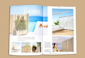 Kataloggestaltung Schöner wohnen Outdoormöbel wetterresistentes Holz