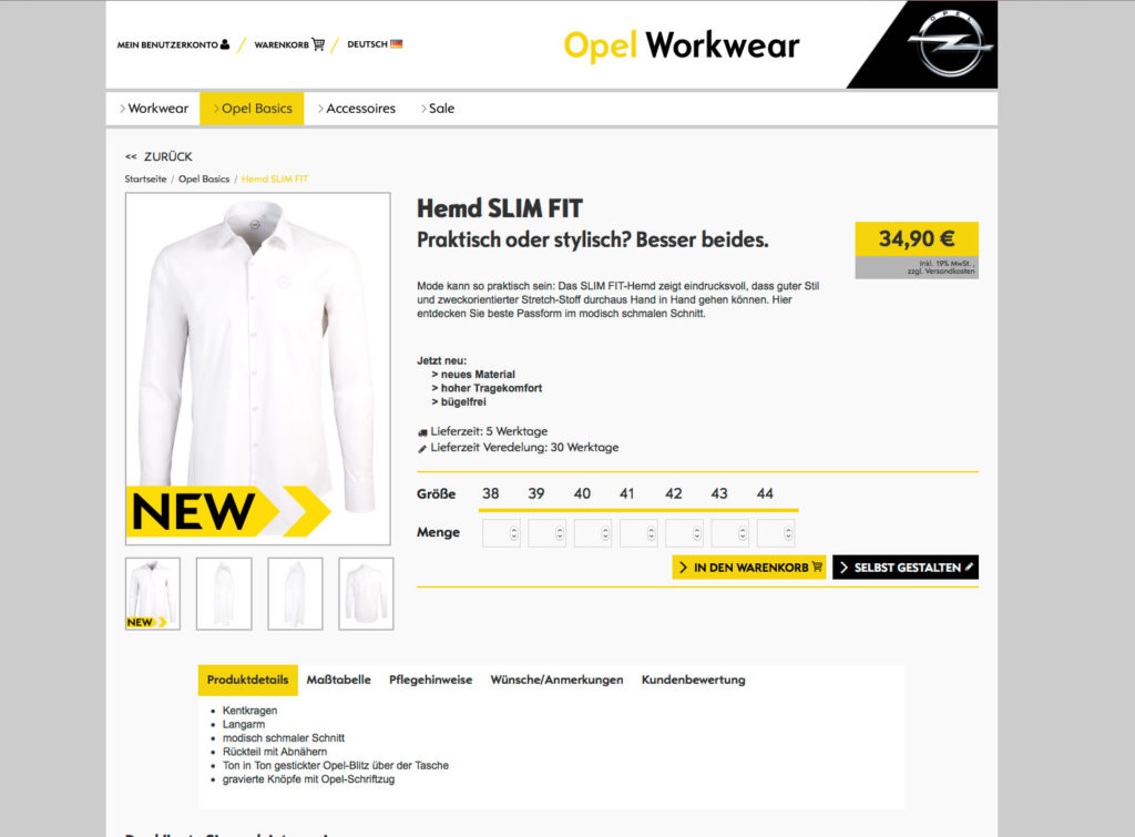 Onlineshop Pixelbäcker Online einkaufen Opel Markenqualität Vermarktung